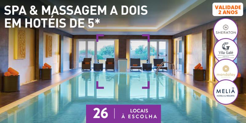 Spa & Massagem a Dois em Hotéis de 5* | 26 Locais à Escolha
