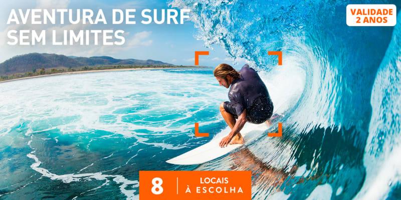 Aventura de Surf Sem Limites | 8 Locais à Escolha