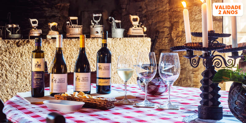 Visita à Vinha e Adega + Prova de 2 Vinhos | Até 4 Pessoas | Quinta do Monte Travesso - Viseu