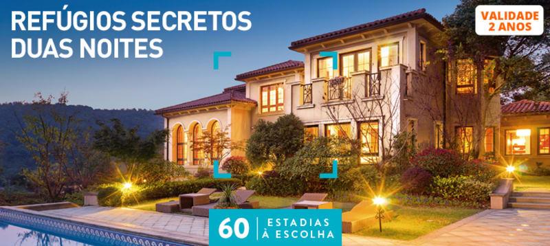 Refúgios Secretos Duas Noites | 60 Estadias à Escolha