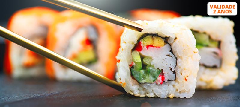 Workshop de Sushi 4 Horas + Refeição + Diploma | 2 Locais