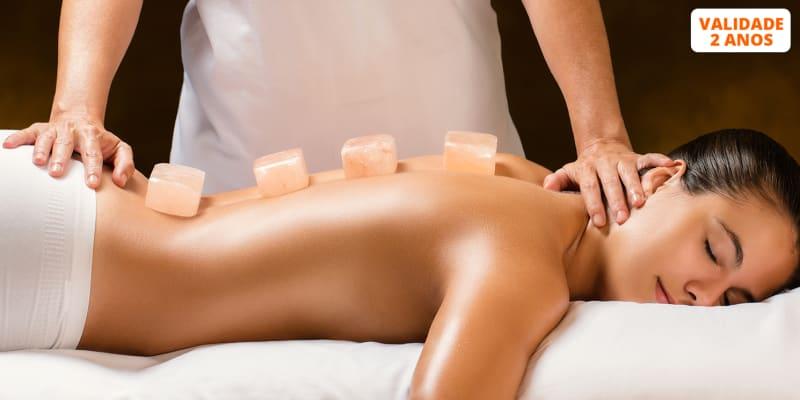 Massagem de Velas, Pedras Quentes, Relaxamento ou Sal dos Himalaias - 45 Minutos | Saldanha