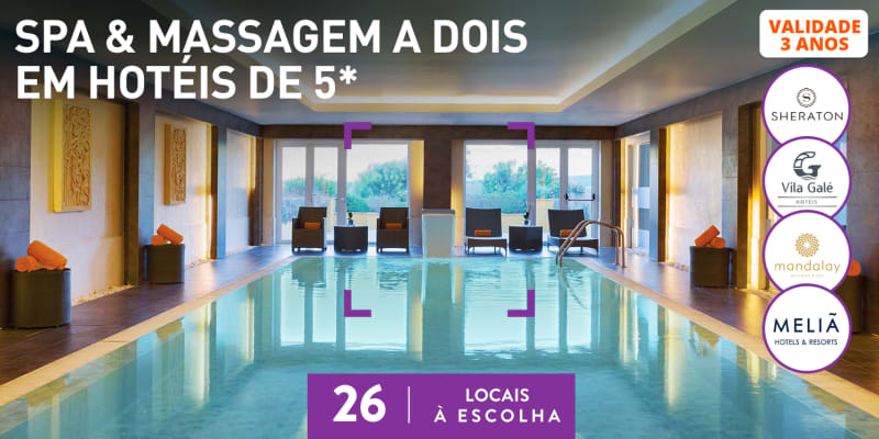 Spa & Massagem a Dois em Hotéis de 5* | 36 Locais à Escolha
