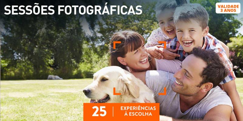 Sessões Fotográficas | 25 Experiências à Escolha