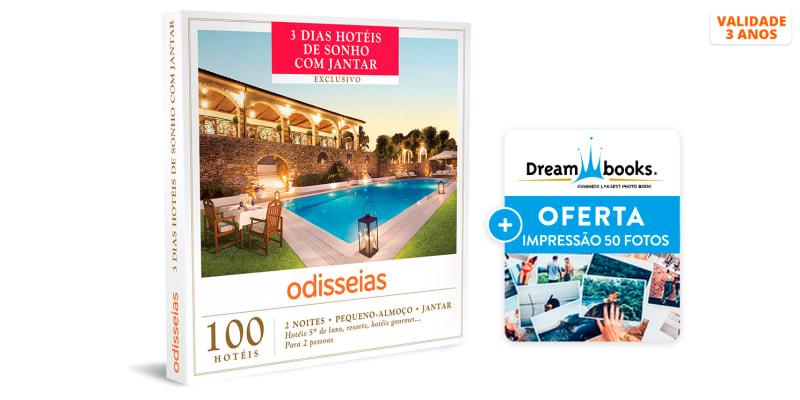 3 Dias Hotéis de Sonho com Jantar | 100 Hotéis