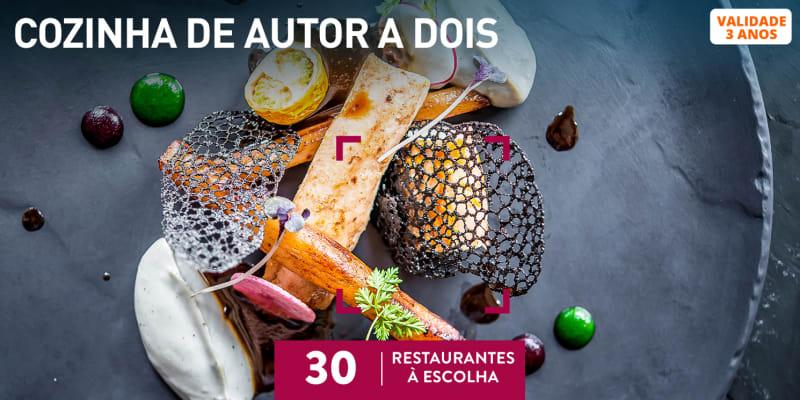 Cozinha de Autor a Dois | 30 Restaurantes à Escolha