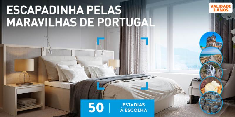 Escapadinha pelas Maravilhas de Portugal   50 Estadias à Escolha