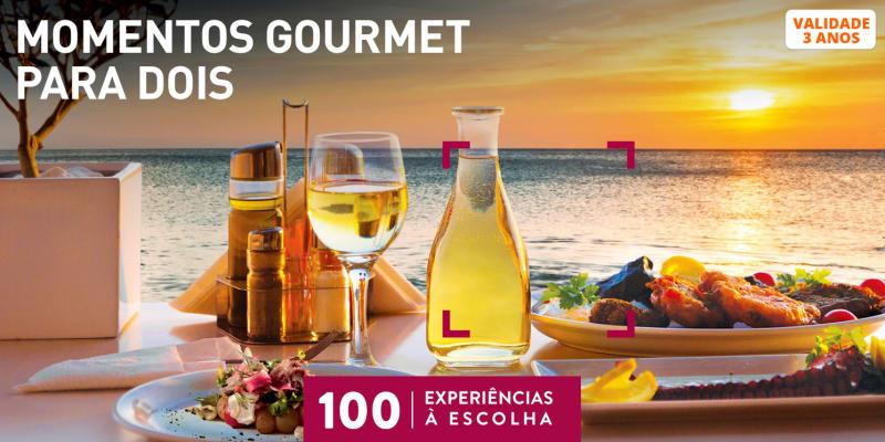 Momentos Gourmet para Dois | 100 Experiências à Escolha