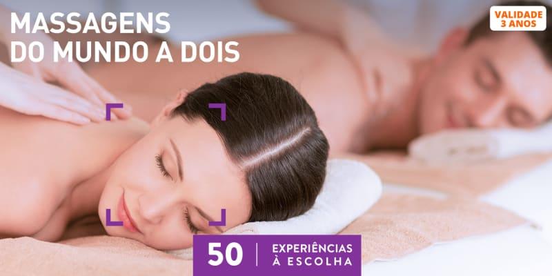 Massagens do Mundo a Dois   50 Locais à escolha