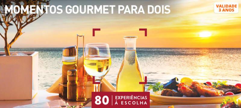 Momentos Gourmet para Dois | 80 Locais à Escolha