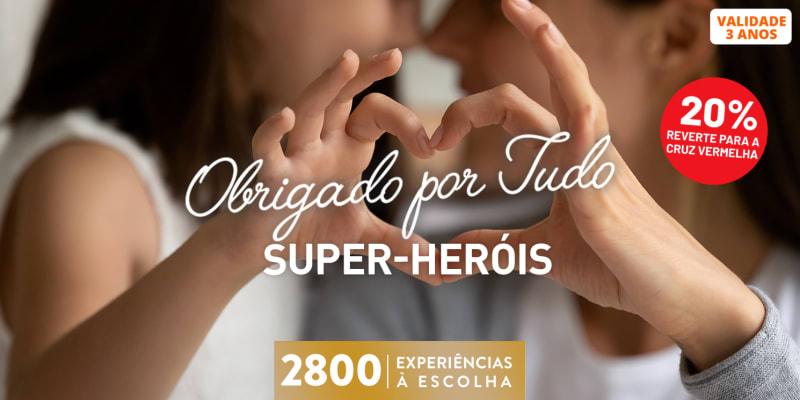 Obrigado Por Tudo! Super Heróis | 2800 Experiências