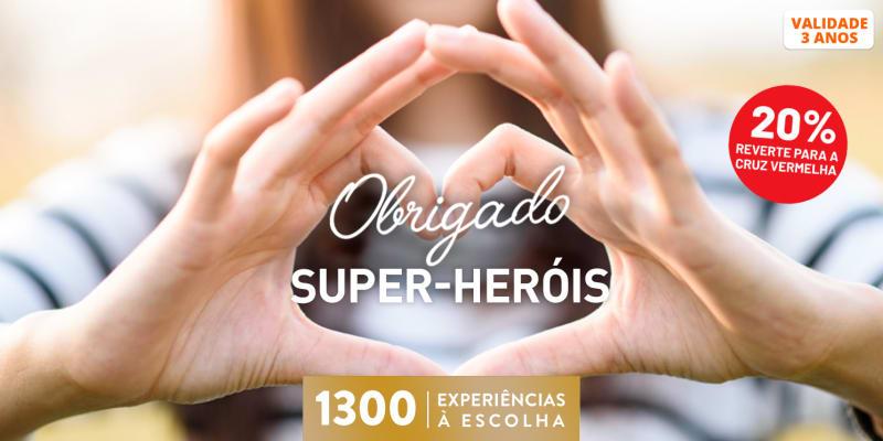 Obrigado Super Heróis | 1300 Experiências à Escolha