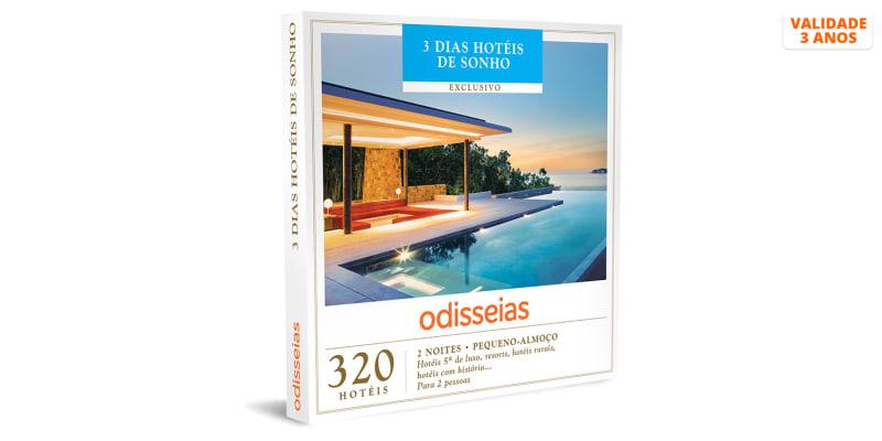 3 Dias Hotéis de Sonho | 320 Hotéis