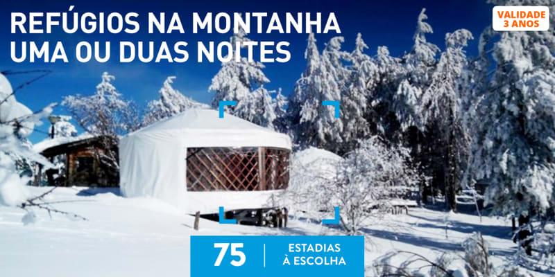 Refúgios na Montanha Uma ou Duas Noites | 75 Estadias à Escolha