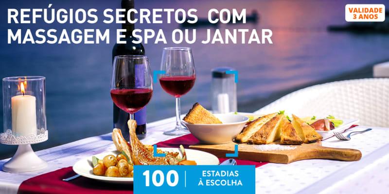 Refúgios Secretos com Massagem e SPA ou Jantar | 100 Estadias à Escolha