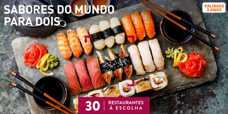 Sabores do Mundo a Dois | 30 Restaurantes à Escolha
