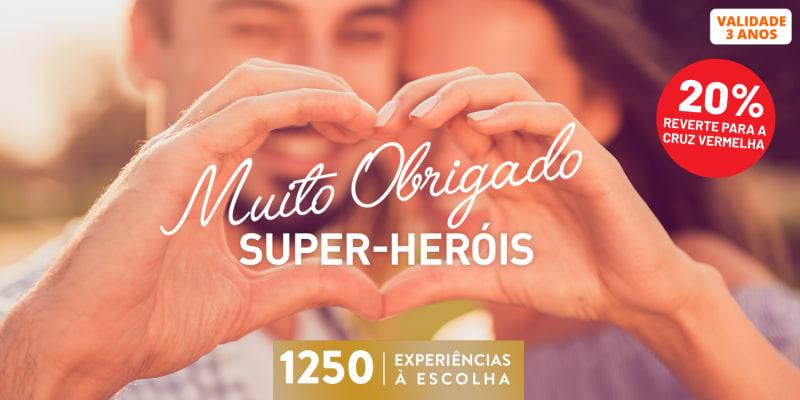 Muito Obrigado Super Heróis  | 1250 Experiências