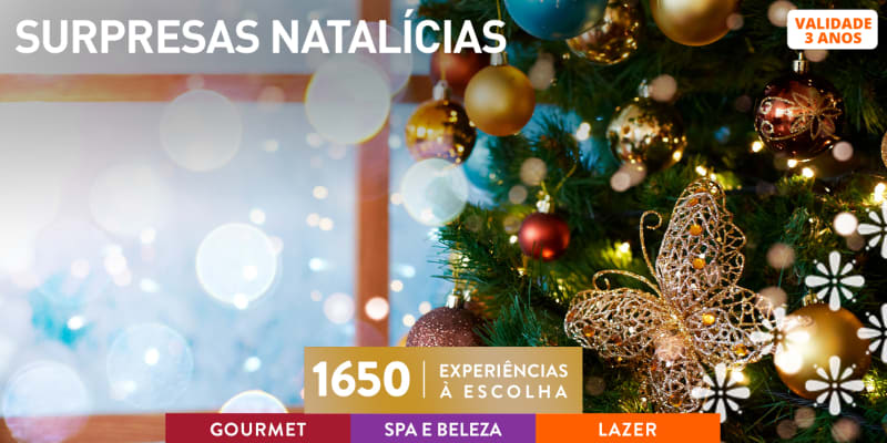 Surpresas Natalícias | 1650 Experiências à Escolha