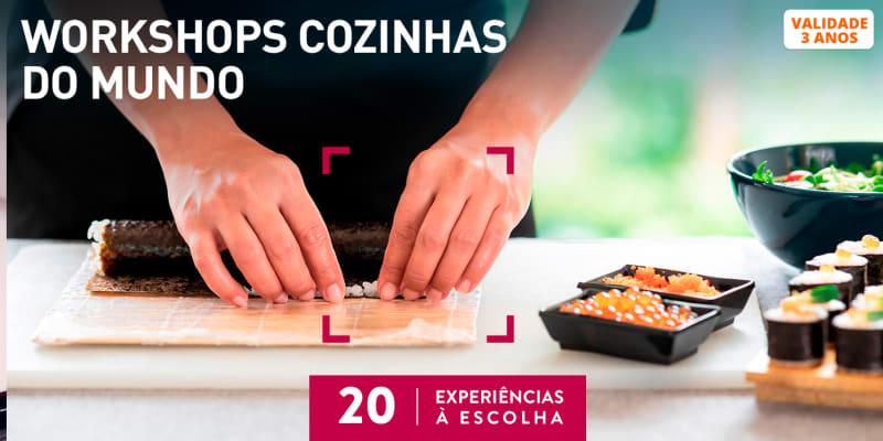 Workshops Cozinhas do Mundo | 20 Experiências à Escolha