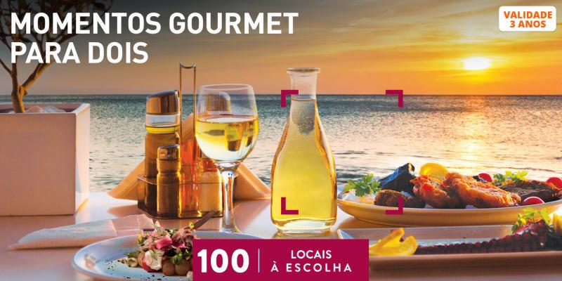 Momentos Gourmet para Dois | 100 Locais à Escolha