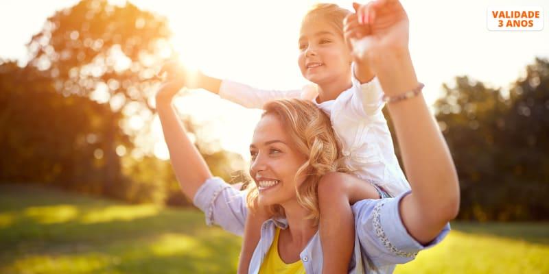 Momentos Apaixonantes em Fotografia! Mãe ou Pai + Filho(s)   Até 4 Pessoas