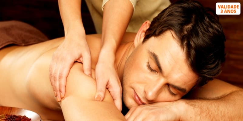 Time for Men! Massagem de Relaxamento + Ritual de Chá - 50 Minutos   Lumiar