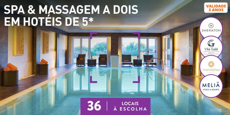 Spa & Massagem a Dois em Hotéis de 5*   36 Locais à Escolha