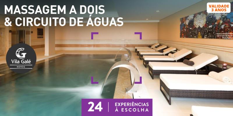 Massagem a Dois & Circuito de Águas | Satsanga Spa - Vila Galé | 24 Locais à Escolha