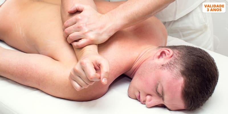 Adeus Dores Musculares! Massagem Terapêutica & Consulta Para Homem - 50 Minutos | 3 Clínicas Sorria