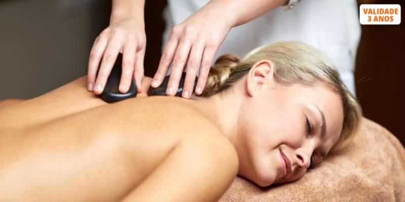 Circuito + Esfoliação & Massagem c/ Pedras Vulcânicas | 2 Horas - 1 ou 2 Pessoas | 3 Spa Vila Galé