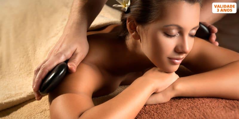 Massagem Geotermal ou Velas Quentes & Mini-Facial | 1 Hora | Almada