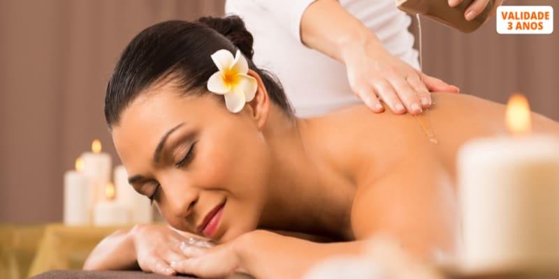 Massagem Ayurvédica ou Shiatsu + Sauna ou Banho Turco   2h   Costa de Caparica
