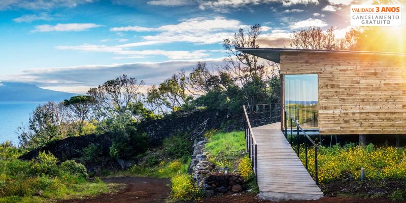 Intact Farm Resort - S. Jorge nos Açores   Estadia em Bungalow com Vista Mar