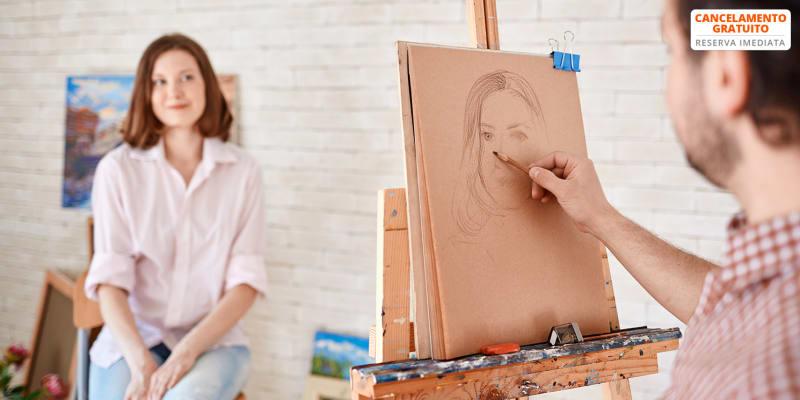 Workshop Online de Desenho para Casal - Faça o Retrato da Sua Cara Metade! 15 e 16 Maio