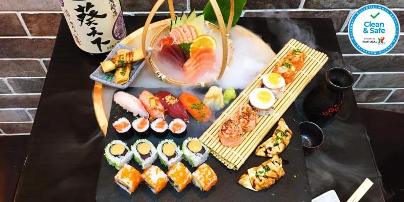 Roda de Sushi para Dois no Centro de Lisboa - Degustação 32 Peças | Sushi Hanzo