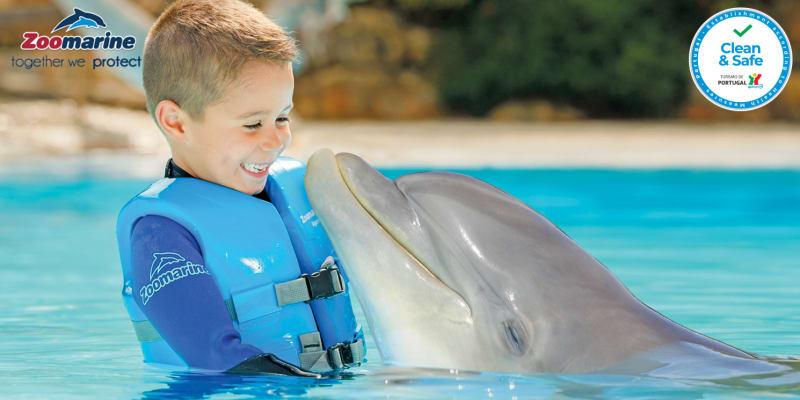 Dolphin Emotions 2021   Visita + Interacção com Golfinhos no Zoomarine para Dois! Algarve
