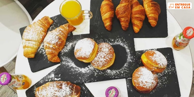 Entrega Grátis em Casa - Sintra | Pequeno-Almoço Guloso para 4 Pessoas! Croissant & Companhia