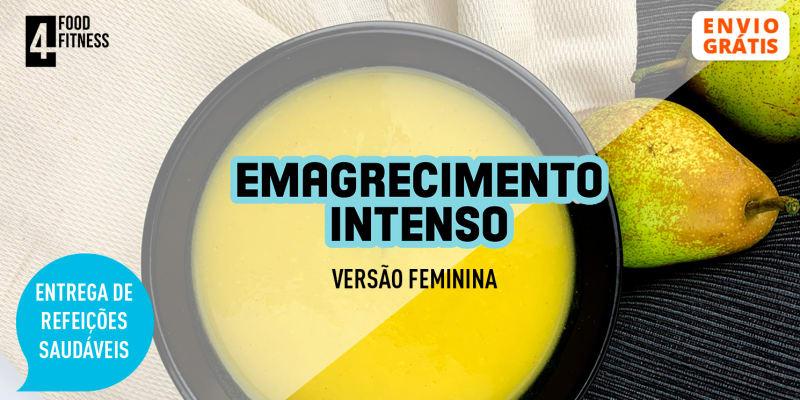 Entrega Grátis em Casa | Pack Emagrecimento Intenso Feminino - 15 Marmitas + 5 Saladas ou Sopas