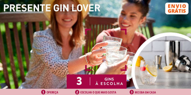 Presente Gin Lover: Kit + Garrafa de Gin à Escolha - Entrega Grátis em Casa | 3 Opções