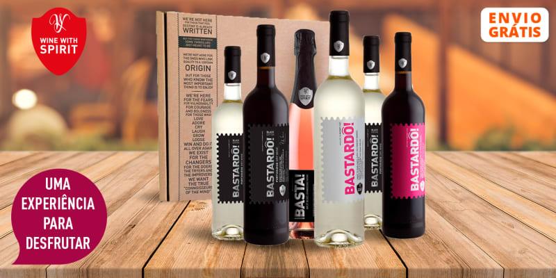 Cabaz Bastardô! Family - 6 Garrafas de Vinho Tinto, Branco & Espumante Rosé | Entrega Grátis! Wine With Spirit