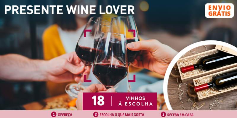 Presente Wine Lover: 6 Garrafas de Vinho à Escolha - Entrega Grátis em Casa | 18 Opções