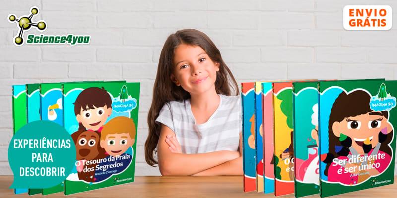 Conjunto 10 Livros da Colecção «Imagina Só» Science4You | Histórias Infantis Educativas! Entrega Grátis