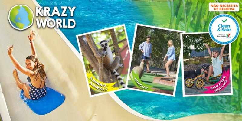 Fim-de-Semana é no Krazy World! Um Dia em Cheio para Toda a Família | Algarve