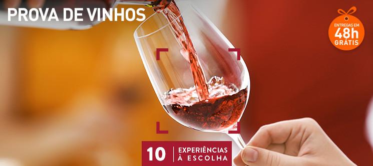 Prenda Original: Prova de Vinhos para 1 ou 2 Pessoas - 10 Locais à Escolha