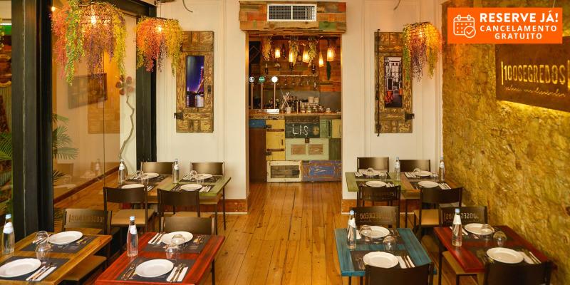 100 Segredos - Lisboa | Descubra-os neste Jantar para Dois!