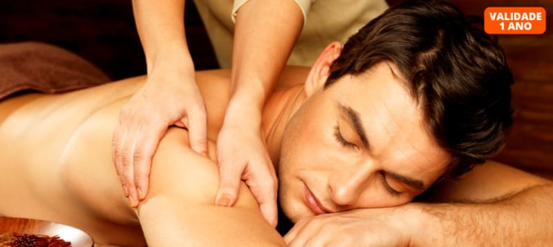 Time for Men! Massagem de Relaxamento + Ritual de Chá | 50 Minutos | Lumiar