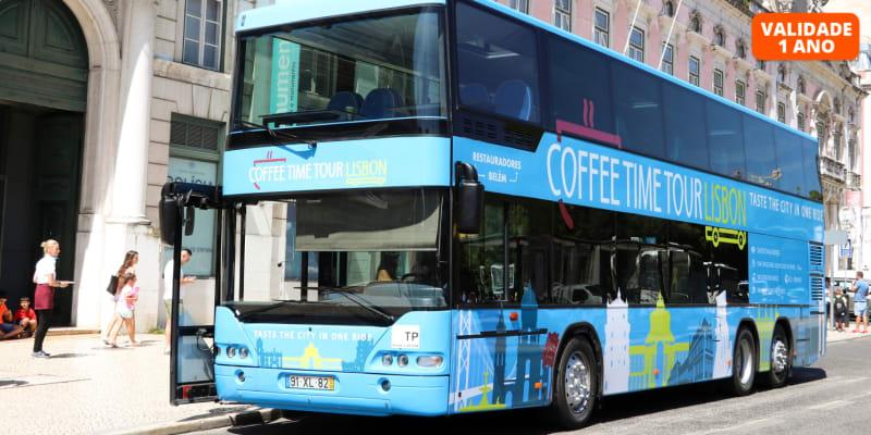 Passeio em Autocarro Panorâmico por Lisboa c/ Doçaria Tradicional   Até 4 Pessoas! Coffee Time Tour