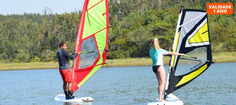 Baptismo de Windsurf na Lagoa de Óbidos   1h de Aventura Aquática!