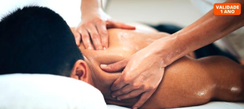 Massagem Relax, Desportiva ou Modeladora + Pressoterapia | 1h | Oeiras ou Lisboa