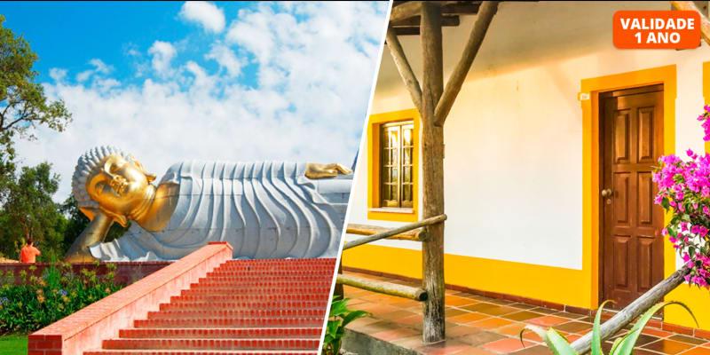 Hotel Rural A Coutada - Peniche | Estadia Romântica com Opção Jantar e Visita ao Jardim Buddha Eden